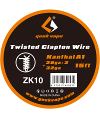 Twisted Clapton Kanthal A1( 28ga x 2+32ga) 15 Ft